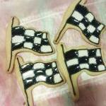 One Dozen Decorated Checker..