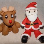 Fondant Reindeer or Santa Claus Cak..
