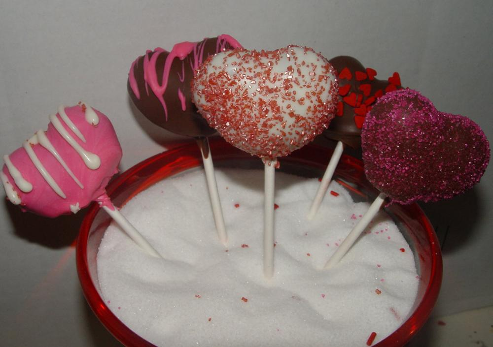 One Dozen (12) Heart Shaped Cake Pops