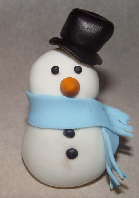 fondant snowman