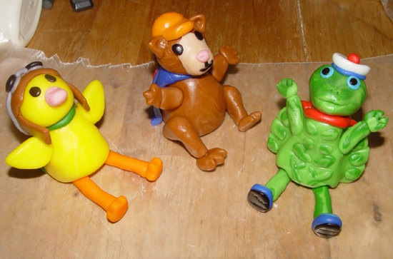 "Fondant ""WONDER PETS Inspired"" Cake Toppers (vehicle included)"