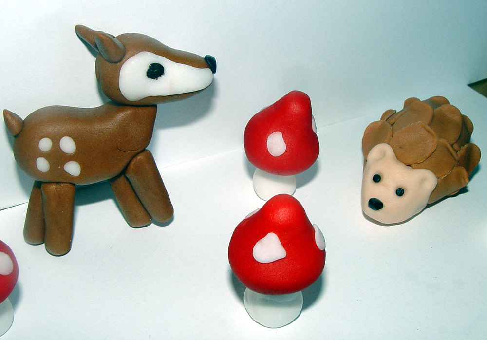Fondant Woodland Themed Cake/Cupcake Toppers