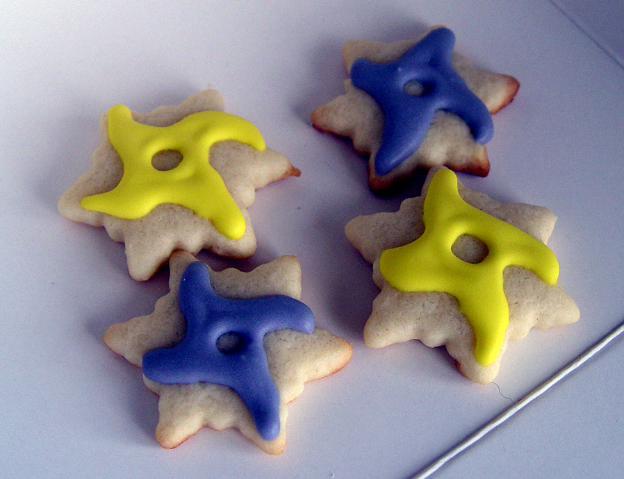 3 Dozen (36) Mini Ninja Star Decorated Cookies