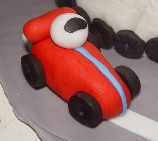 12 Fondant Race Car Cupcake Toppers